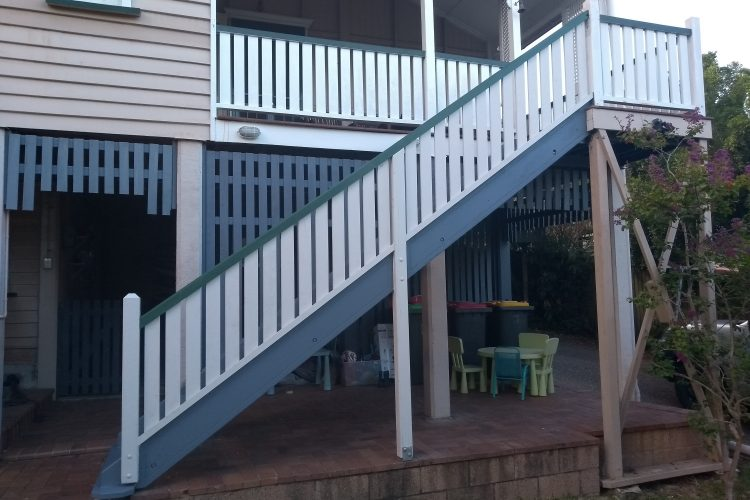 Queenslander hardwood Stairs – Greenslopes, Brisbane