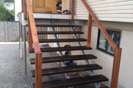 Triple Steel Stringer Staircase