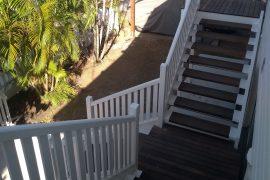 Triple Hardwood External Stairs