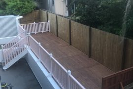 Treated Pine Deck with Staircase and Balustrading