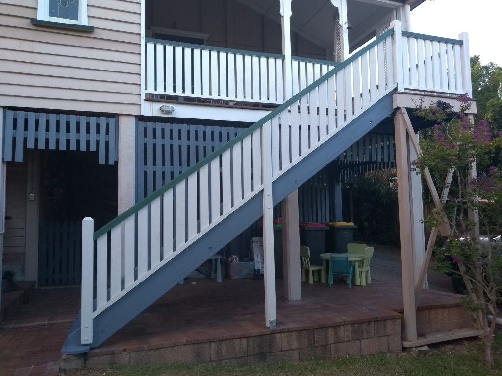 queenslander hardwood stairs  u2013 greenslopes  brisbane  u2013 i