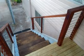 Hardwood Staircase with Stainless Steel Balustrading