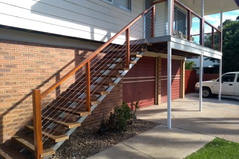 Front Staircase and Balcony Renovation