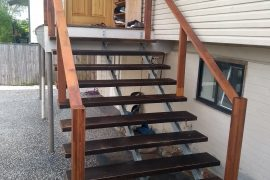 Triple Steel Stringer Staircase